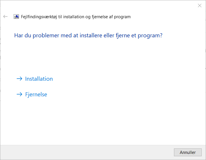 Installation or Uninstallation